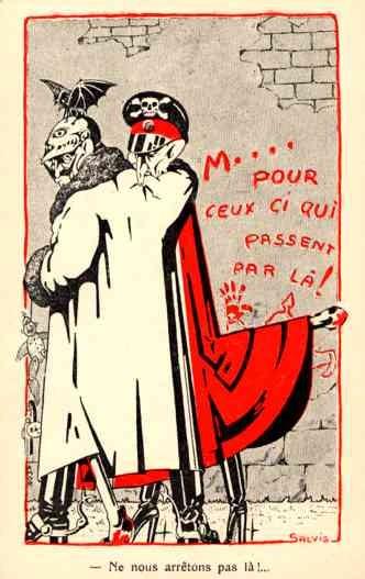 Kaiser Wilhelm Bat WWI Satire French