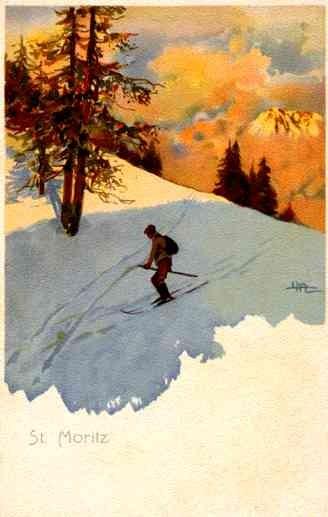 St. Moritz Skiing Swiss