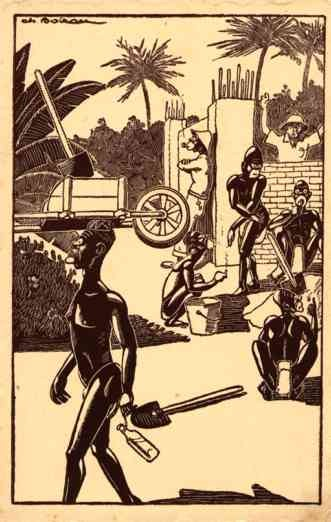 Black Workers Pipe Comic French