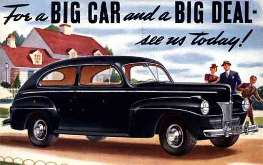 Advert New 41 Ford Car