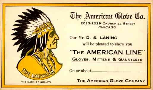 Indian Chief Advert Gloves