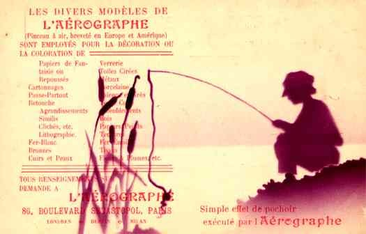 Advert Aerographs Fishing French