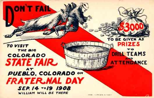 Goat Colorado 1908 Fair Fraternal