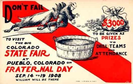 Goat Colorado 1908 Fair Fraternal