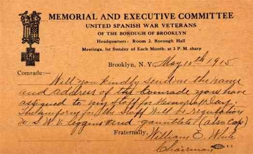 Spanish American War Veterans NYC