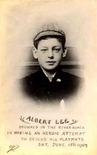 Lee Real Photo Drowning British