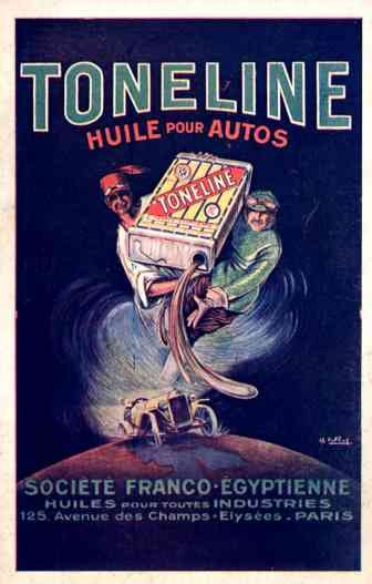 Auto Race & Advert Toneline Oil