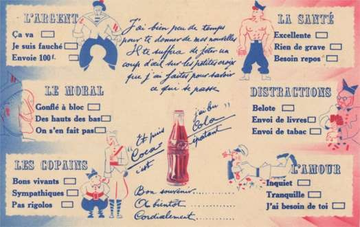 Advert Coca-Cola & Navy Strongman