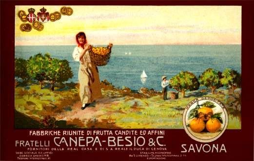 Advert Savona Fruits Italian