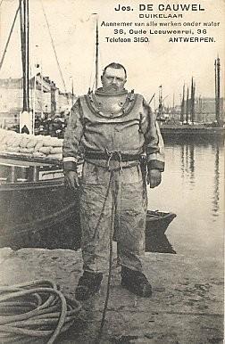 Deep Sea Diver Jos De Cauwel Advert