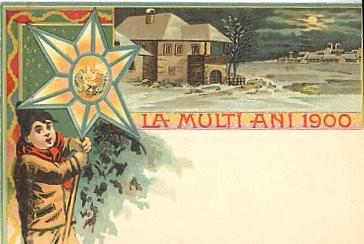 1900 Christmas Greeting Romania