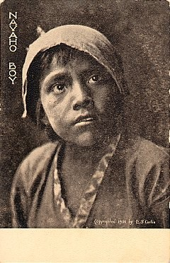 Navaho Boy Curtis Indian