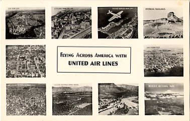 Advertising United Air Lines RP