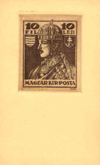 King Stamp Hungarian Royalty