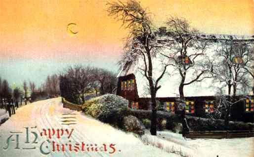 Christmas Moon Village HTL Novelty