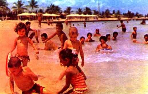 Swimming Children Cuban Propaganda