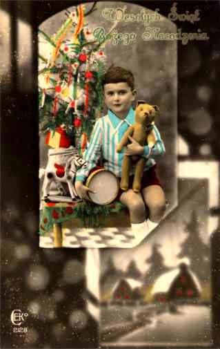 Christmas Teddy Bear Horse Drum RP