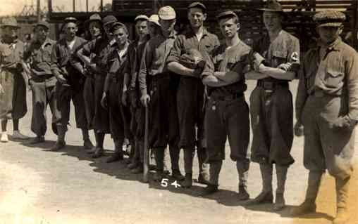 Red Cross Baseball Soldiers WWI RP