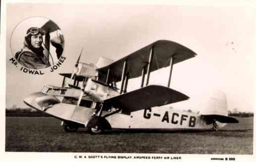 Biplane Jones Real Photo