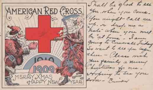 Santa Claus Red Cross Christmas NY