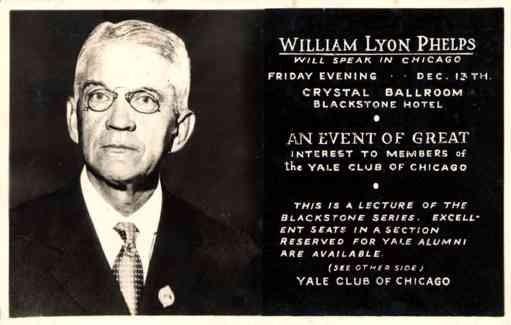 Lyon Phelps Advert Lecture RPPC IL