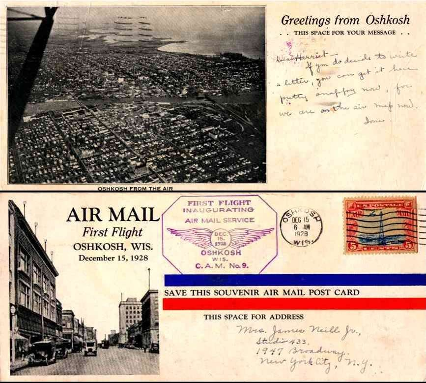 Aviation Air Mail Flight WI