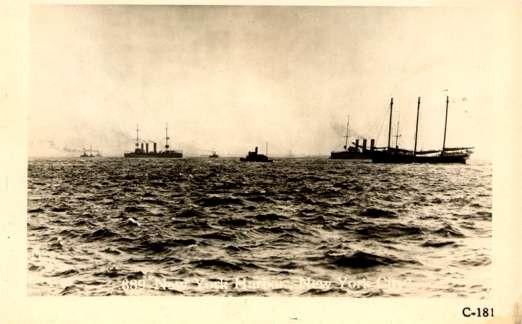 Battleships & New York Harbor RPPC