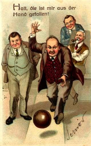Bowling & Pipe Smoking Humorous