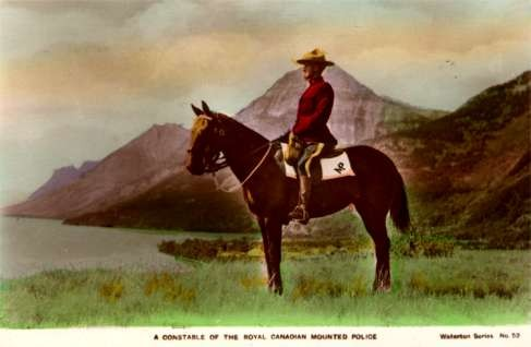 Canadian Mountie Hand-Tinted RP