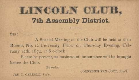 President Lincoln Club Pioneer