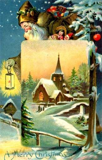 Santa Claus & Doll Clown Christmas