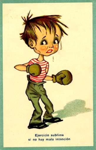 Boy Boxing Comic
