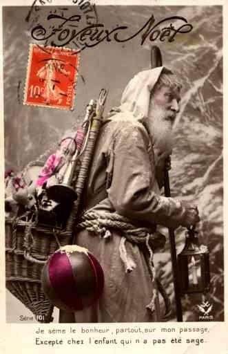 St. Nicholas with Lantern RPPC