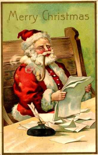 Reading Santa Claus with Pipe