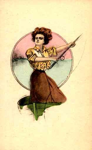 Fishing Girl in Boat