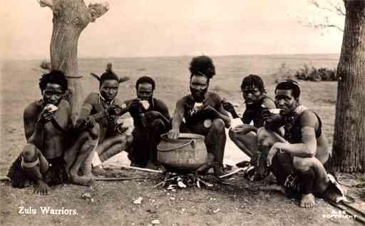 Black Zulu Warriors Real Photo