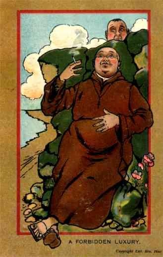 Anti-Catholic Smoking Priest British