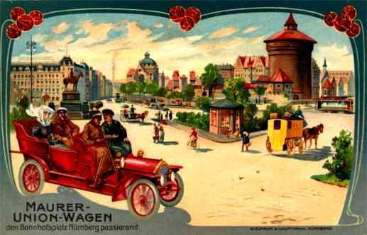 Auto Horse-Drawn Wagon Advert Car