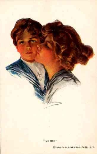 Art Nouveau Boileau Boy Mother
