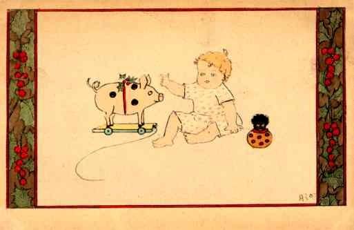 Golliwog Pig Toy Comic