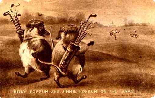 Possums Golf Comic Political