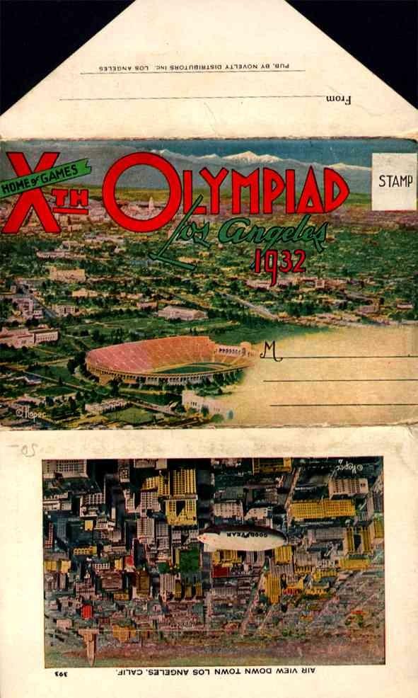 X Olympiad 1932 Los Angeles Novelty