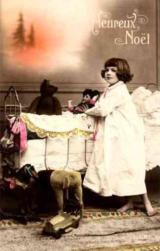 Teddy Bear Doll Girl Hand-Tinted RP