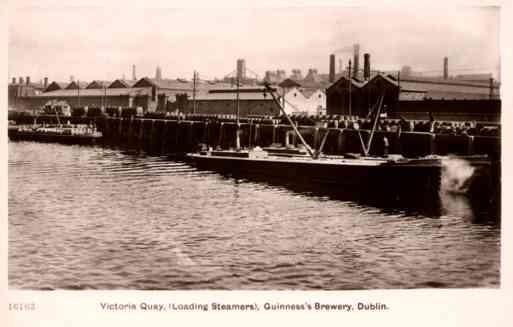 Dublin Brewery Ship Real Photo