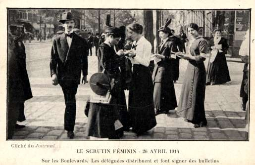 French Suffragists Asking for Signatures
