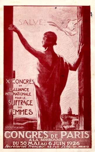 Suffrage Congress 1926 Paris
