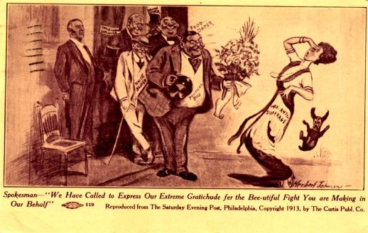 Johnson Political Boss & Mrs. Anti-Suffragist