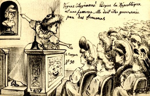 French Suffragist at the Meeting