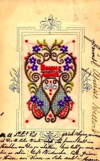 Embroidered Silk Design