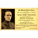 Eddie Rickenbacker Flying Ace Masonic Lecture
